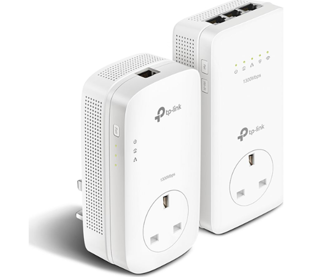 Tp-Link AV1300 Wireless Powerline Adapter Kit - Twin Pack