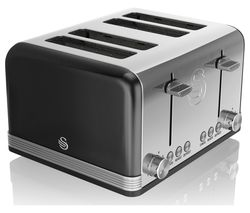 SWAN Retro ST19020BN 4-Slice Toaster - Black