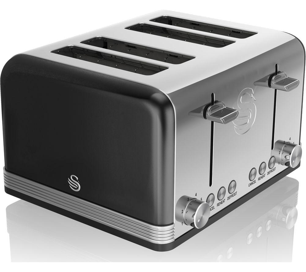 SWAN Retro ST19020BN 4-Slice Toaster - Black