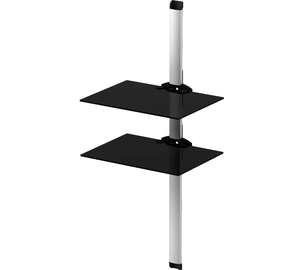 SONOROUS PL2620 Twin Shelf Support System - Black & Silver