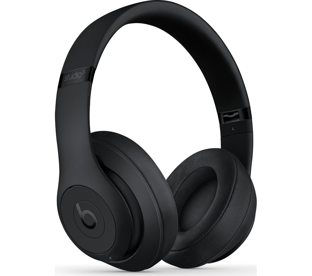 BEATS Studio 3 Wireless Bluetooth Noise-Cancelling Headphones - Black, Black