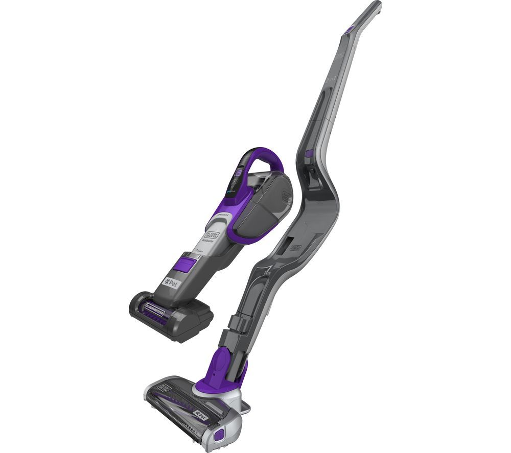 Black & Decker BLACK & DECKER Pet 2 in 1SVJ520BFSP-GB Cordless Vacuum Cleaner - Titanium Grey & Purple
