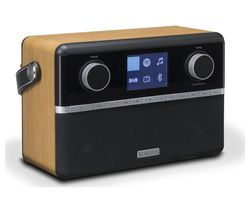 ROBERTS Stream 94i Portable DAB+/FM Smart Bluetooth Clock Radio - Black & Wood