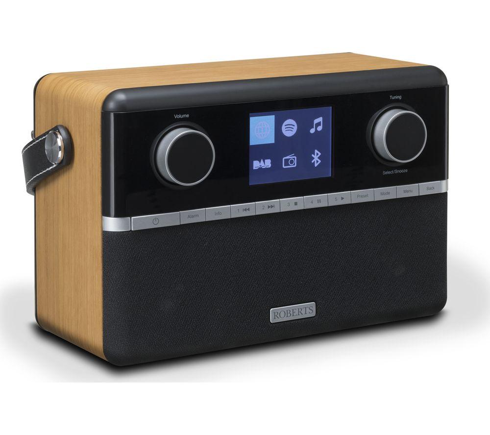ROBERTS Stream 94i Portable DAB+/FM Smart Bluetooth Radio - Black & Wood