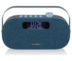 SANDSTROM SF-DABA18 Portable DAB+/FM Bluetooth Radio - Blue