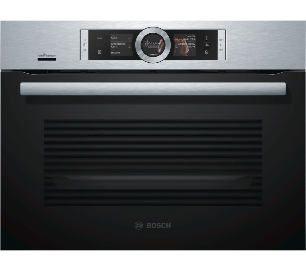 Image of BOSCH Serie 8 CSG656BS6B Compact Electric Steam Smart Oven - Stainless Steel, Stainless Steel