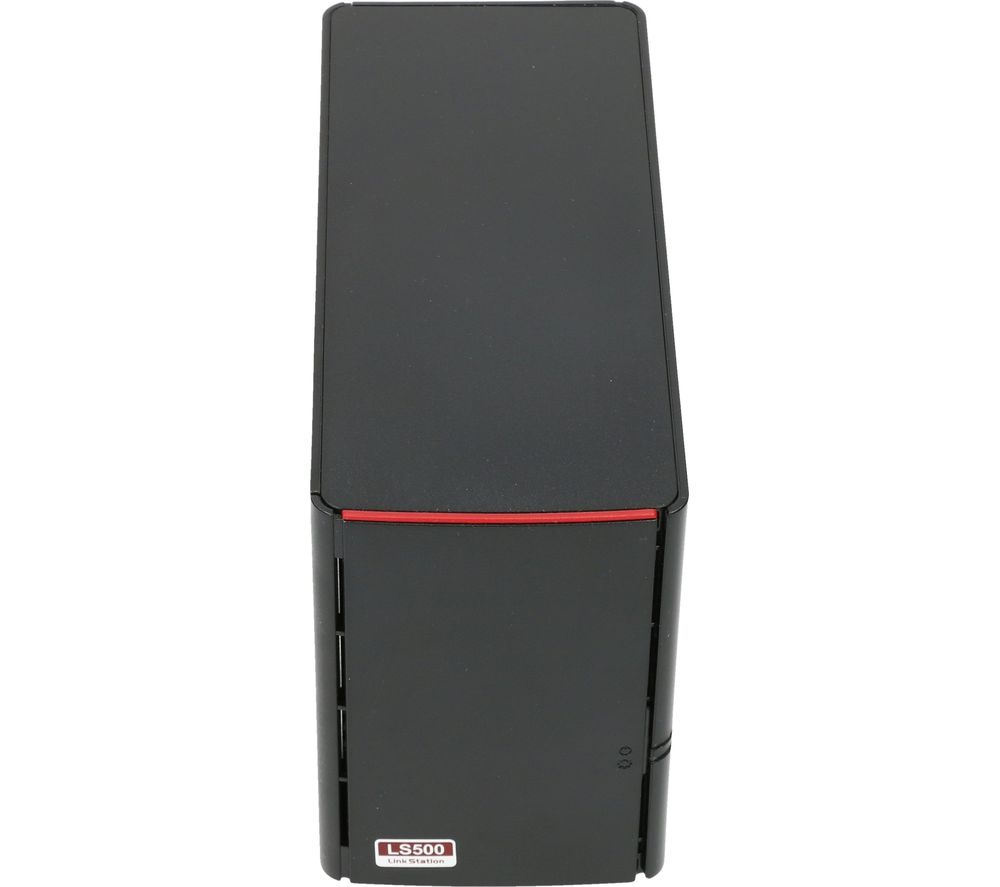 BUFFALO LinkStation 520 NAS Enclosure - 2 Bay, Black