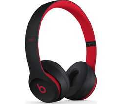 BEATS Decade Collection Solo 3 Wireless Bluetooth Headphones - Red & Black