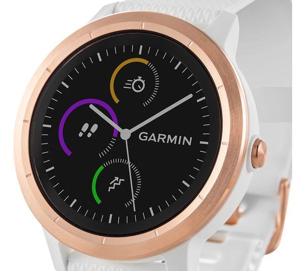 010-01769-05 - GARMIN vivoactive 3 - White & Rose Gold - Currys PC
