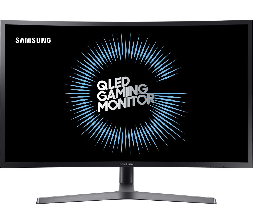 "SAMSUNG LC32HG70QQUXEN Quad HD 32"" Curved QLED Gaming Monitor - Dark Blue Grey"