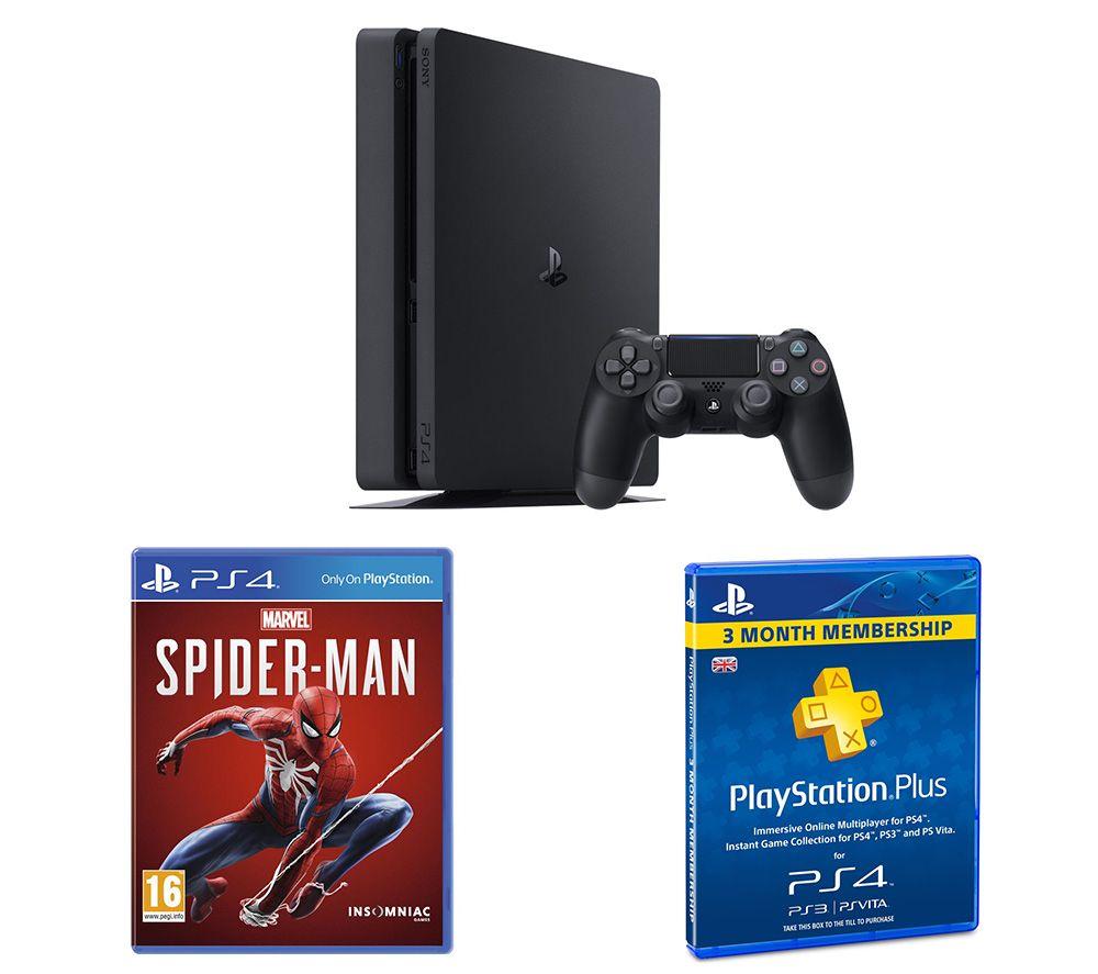 SONY PlayStation 4, Marvels Spider-Man & PlayStation Plus 3 Month Subscription Bundle