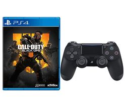 PS4 Call of Duty: Black Ops 4 & DualShock 4 V2 Wireless Controller Bundle - Black