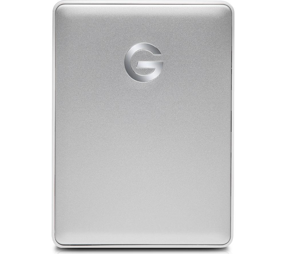 G-TECHNOLOGY G-DRIVE Mobile Portable Hard Drive - 2 TB, Aluminium