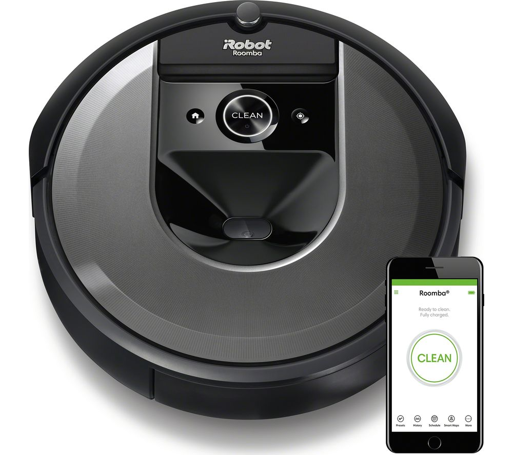 IROBOT Roomba I7558+ Robot Vacuum Cleaner - Charcoal