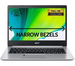 £399, ACER Aspire 5 A514-52 14inch Laptop - Intel® Core™ i3, 128 GB SSD, Silver, Everyday: All-rounder for work and play, Windows 10, Intel® Core™ i3-10110U Processor, RAM: 4GB / Storage: 128GB SSD, Full HD display,
