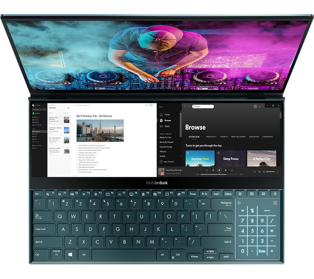 ZenBook Pro Duo UX581GV 15.6� Laptop - Intel®� Core™� i9, 1 TB SSD, Blue, Blue