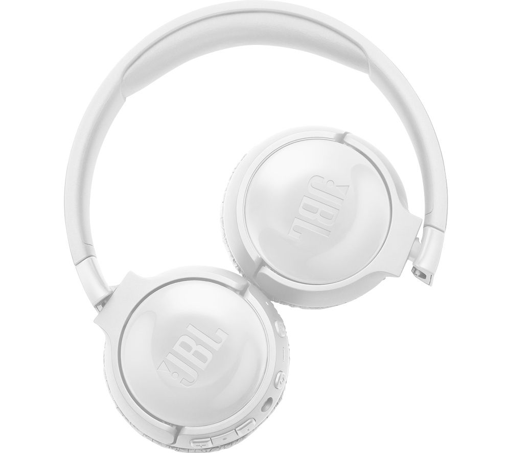 JBL TUNE 600BTNC Wireless Bluetooth Noise-Cancelling Headphones - White