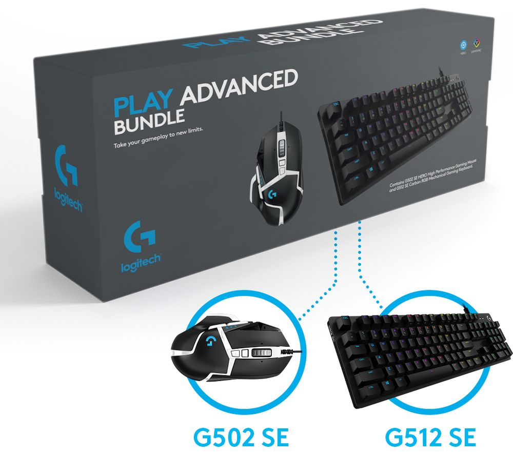 Image of G Play Advanced Gaming Keyboard & Mouse Set, Blue