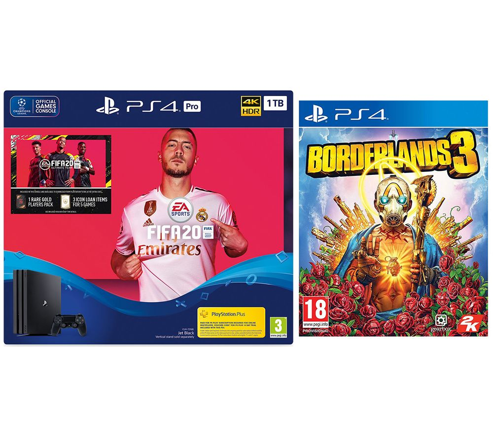 SONY PlayStation 4 Pro, FIFA 20 & Borderlands 3 Bundle - 1 TB
