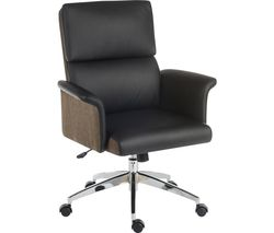 Elegance Medium Faux-Leather Executive Chair - Black & Brown