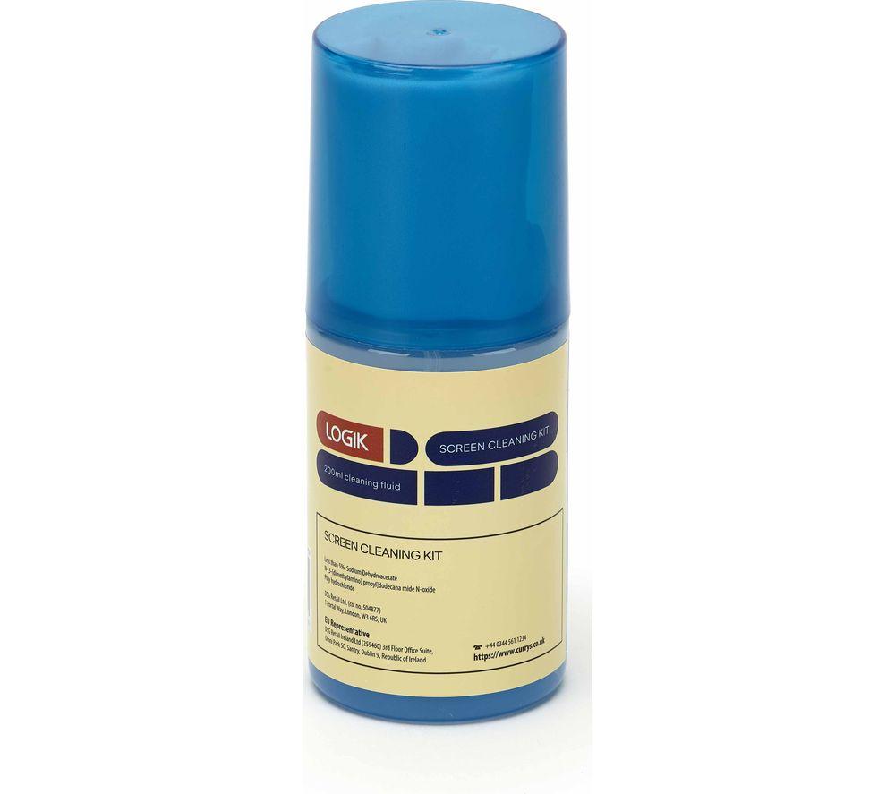 LOGIK L200SCK20 Screen Cleaning Fluid & Cloth - 200 ml