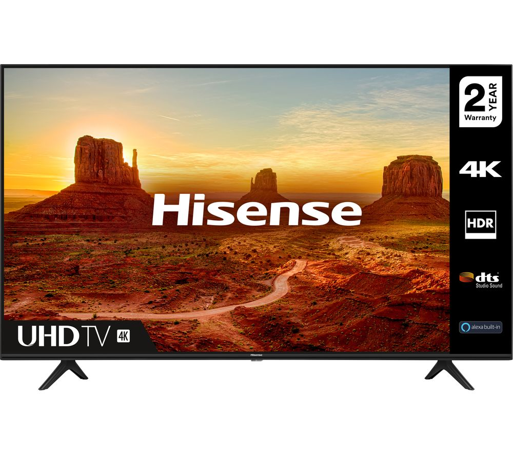 55  HISENSE 55A7100FTUK  Smart 4K Ultra HD HDR LED TV with Amazon Alexa