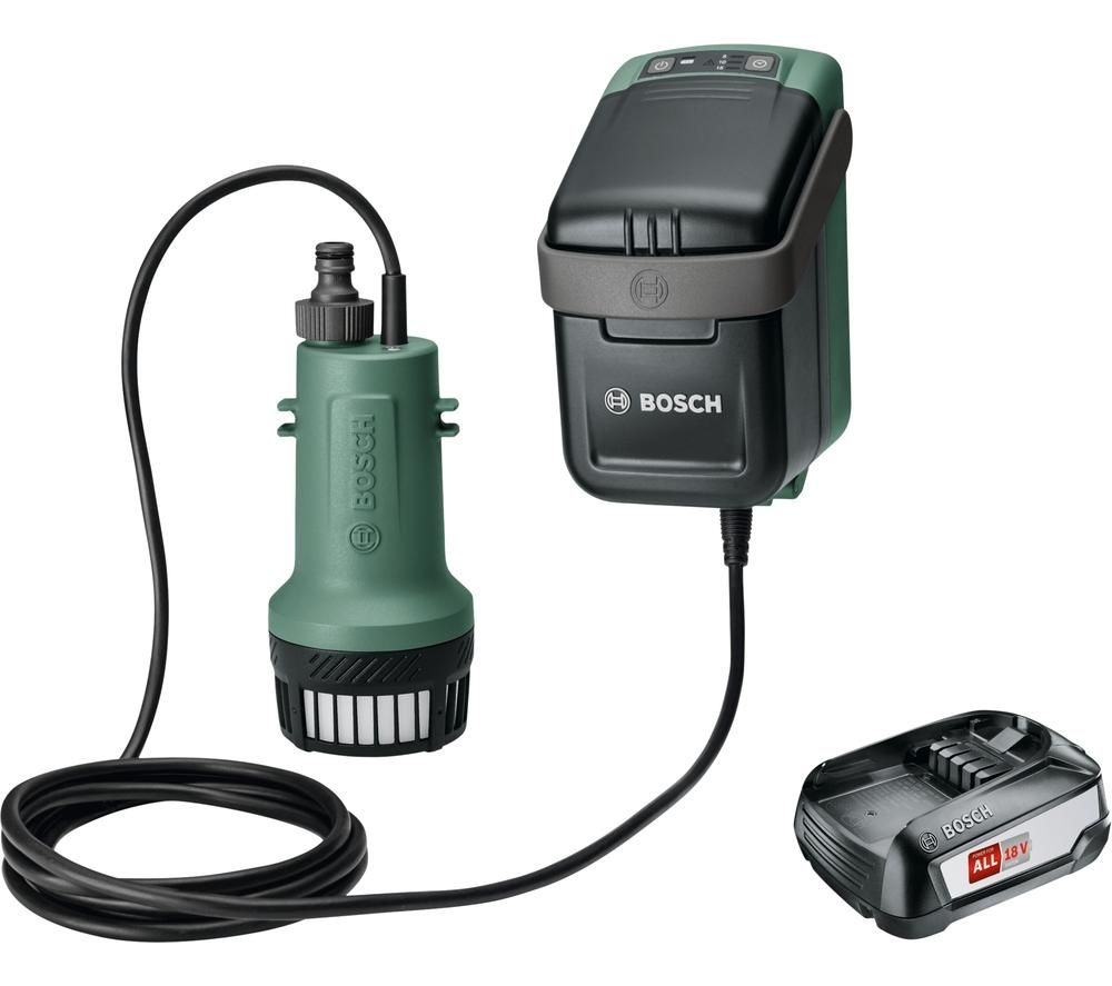 BOSCH GardenPump 18 Cordless Rainwater Pump - Green & Black