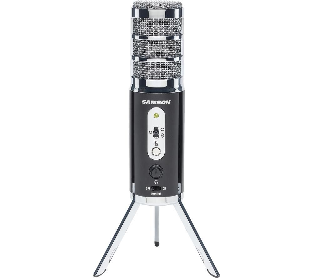 Image of SAMSON Satellite - USB/iOS Broadcast Microphone for capturing high-definition audio on your computer, iPhone or iPad - Black,...