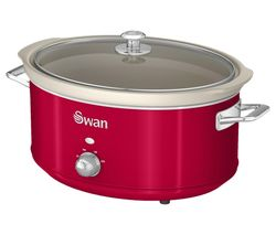 SWAN Retro SF17031RN Slow Cooker - Red Best Price, Cheapest Prices