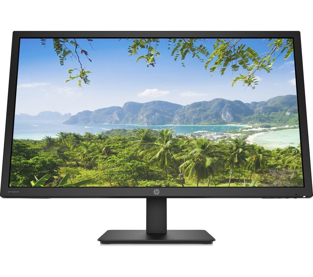 "HP V28 4K Ultra HD 28"" TN LCD Monitor - Black"