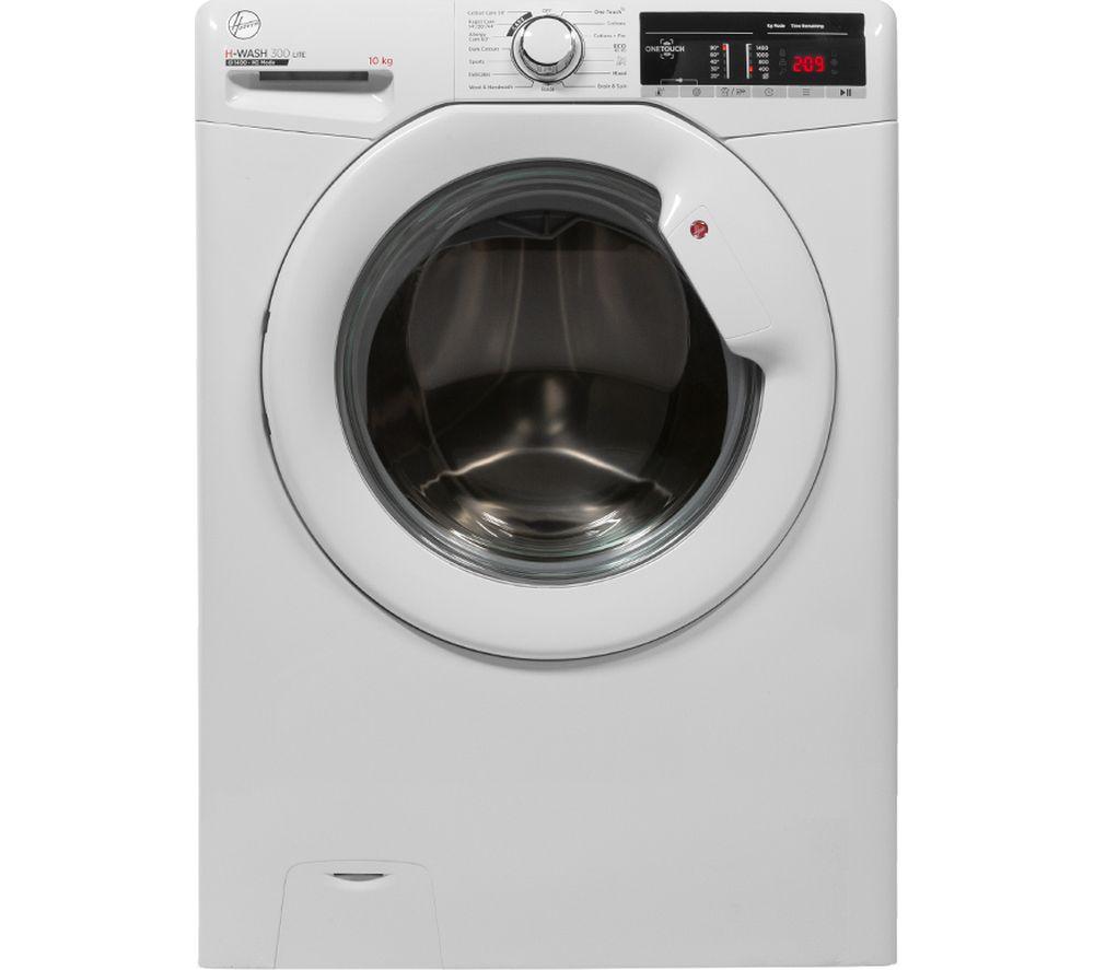 HOOVER H-Wash 300 H3W410TE NFC 10 kg 1400 Spin Washing Machine - White