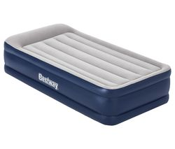 Tritech Inflatable Single Airbed - Grey & Blue