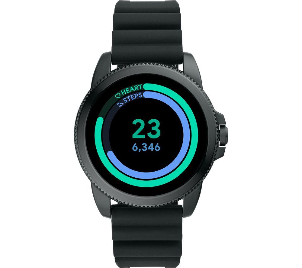 FOSSIL Gen 5E FTW4047 Smartwatch - Black, Silicone Strap