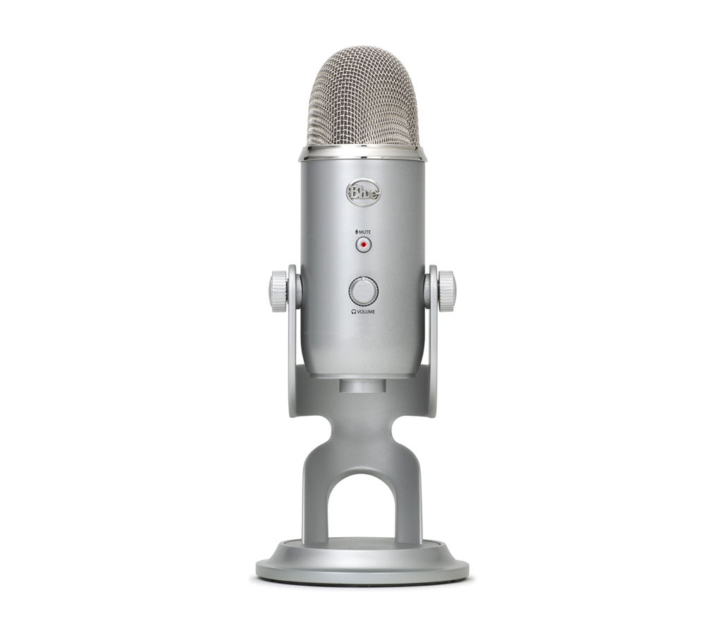 Image of BLUE Yeti Professional USB Microphone - Silver, Blue