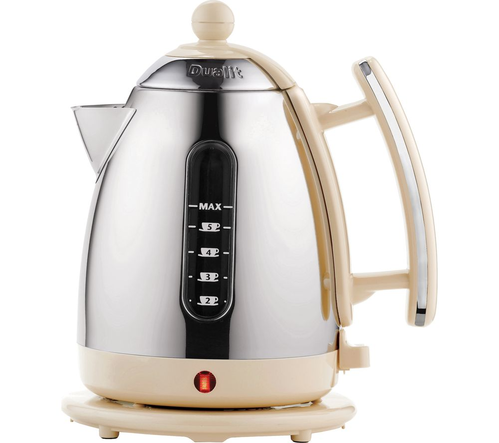 DUALIT 72413 Jug Kettle - Cream & Stainless Steel