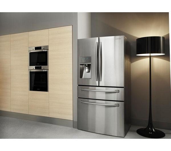 Samsung American Freezer Part - 28: SAMSUNG RF24FSEDBSR American-Style Fridge Freezer - Real Stainless