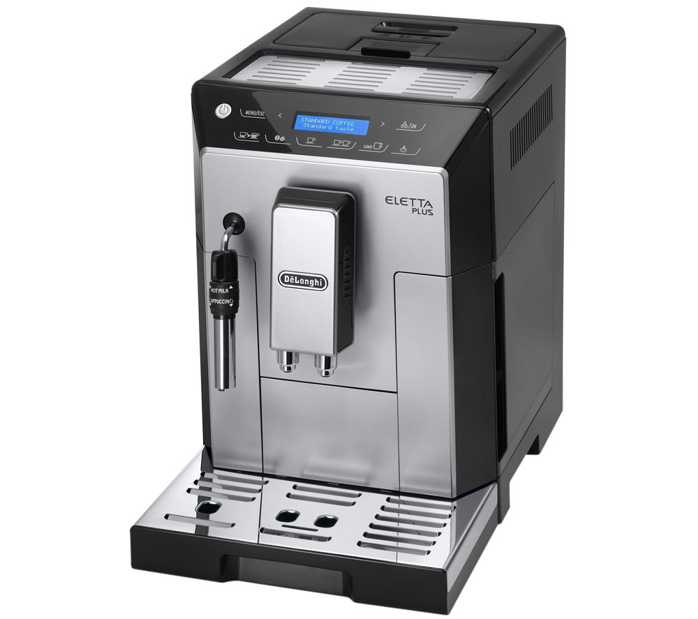 buy delonghi eletta plus bean to cup coffee machine silver black free delivery. Black Bedroom Furniture Sets. Home Design Ideas