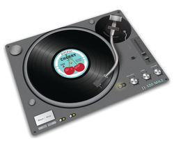 JOSEPH JOSEPH 90040 Glass Chopping Board - Record Player