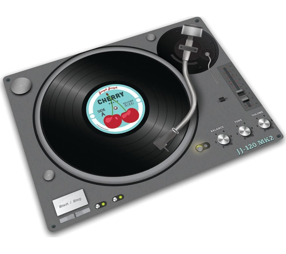 Image of JOSEPH JOSEPH 90040 Glass Chopping Board - Record Player