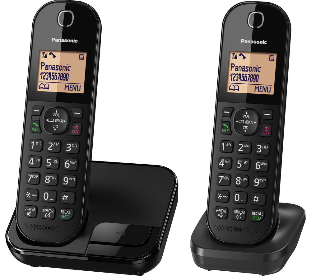PANASONIC KX-TGC412EB Cordless Phone - Twin Handsets