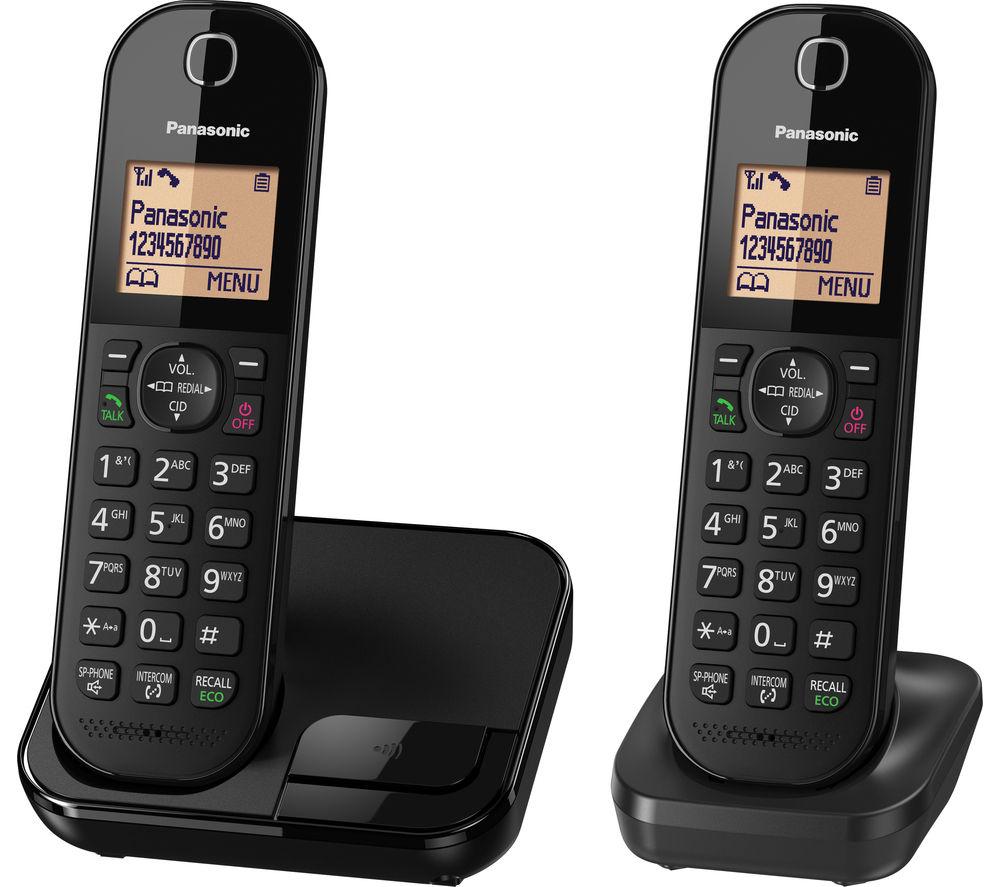 Panasonic Kx Tgc412eb Cordless Phone Twin Handsets