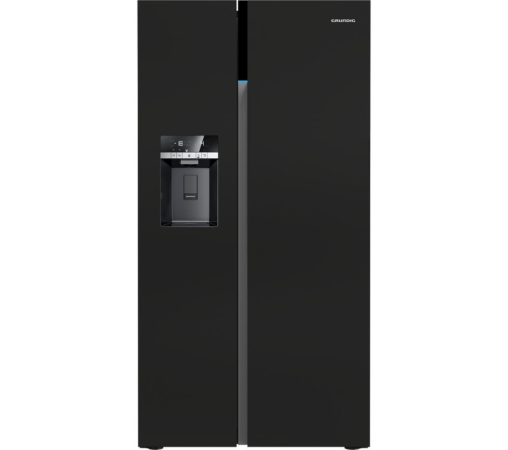 GRUNDIG GSBS16312B American-Style Fridge Freezer - Black