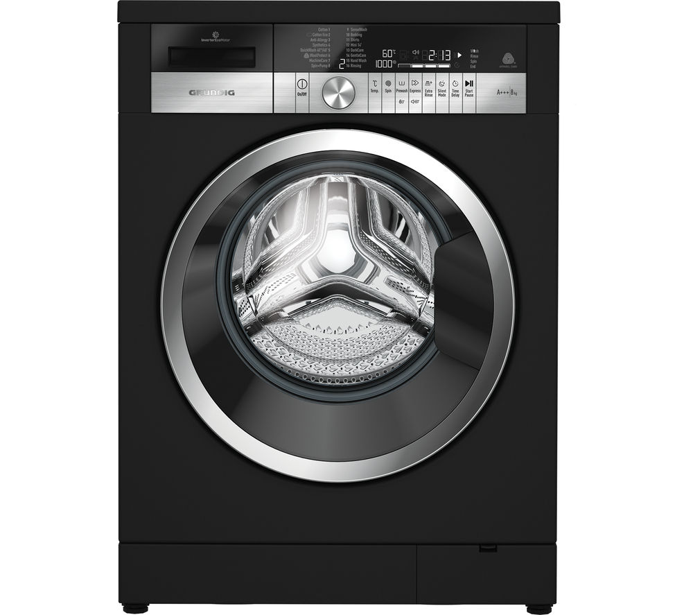 GRUNDIG GWN48430CB Washing Machine - Black