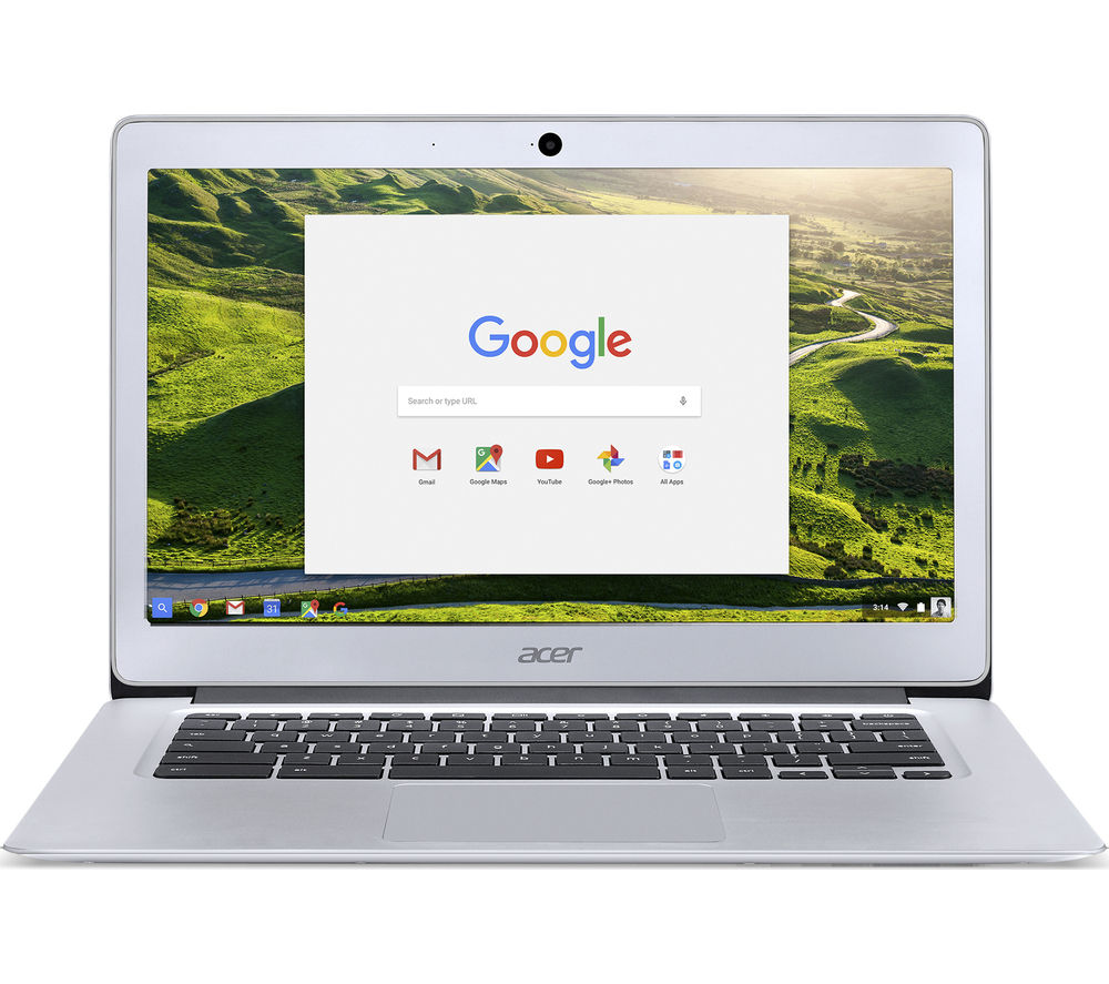 "ACER CB3-431 14"" Full HD Chromebook - Silver + Cloud Storage for Tablets & Mobiles - 200 GB, 1 year"
