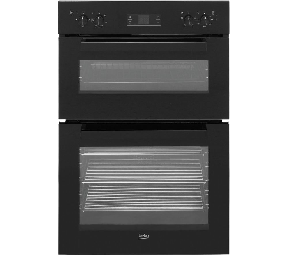 buy beko bdf22300b electric double oven black free. Black Bedroom Furniture Sets. Home Design Ideas