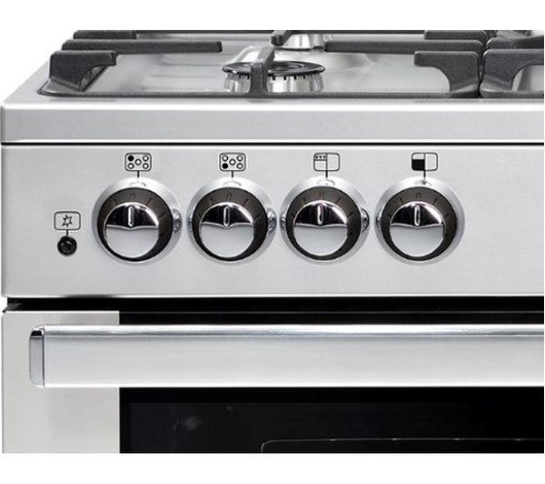 belling gourmet 90g gas range cooker stainless steel