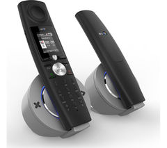 BT Halo Bluetooth Cordless Phone with Answering Machine - Twin Handsets