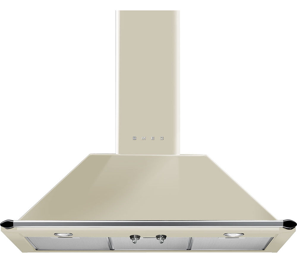 SMEG Victoria KT90PE Chimney Cooker Hood - Cream