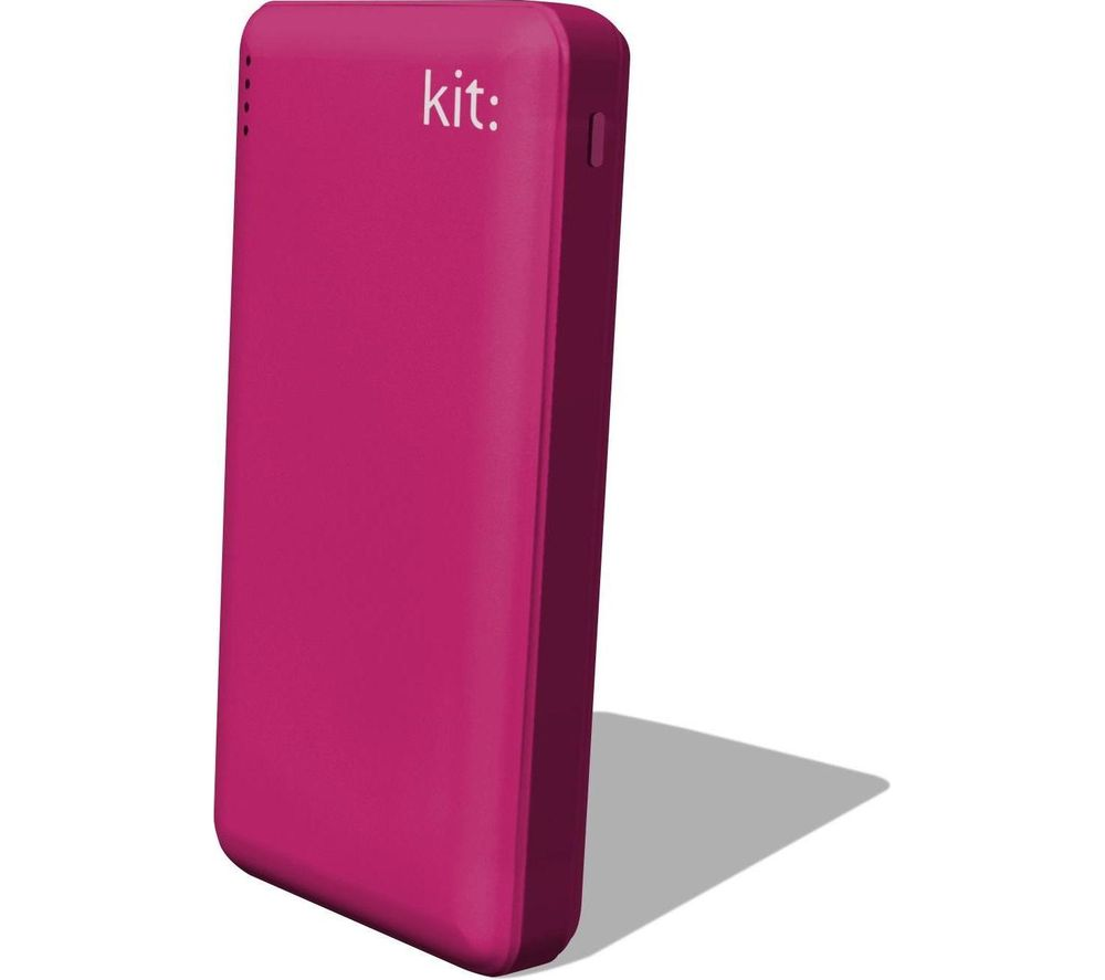 KIT FRESH 12000 mAh Portable Power Bank - Pink