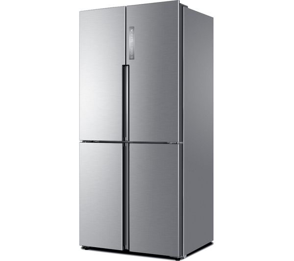 buy haier htf 456dm6 60 40 fridge freezer stainless steel free delivery currys. Black Bedroom Furniture Sets. Home Design Ideas